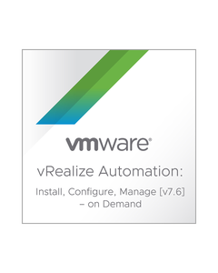 VMware vRealize Automation: Install, Configure, Manage [V7.6] – On Demand