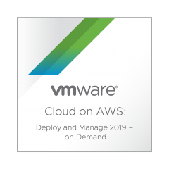 VMware Cloud on AWS: Deploy and Manage 2019 – On Demand